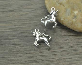10 pcs Unicorn Charms