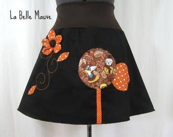 Skirt Chihiro fox orange and black