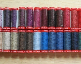 Genziana Wool Thread Sampler Pack for Wool Applique and Embroidery Number 12
