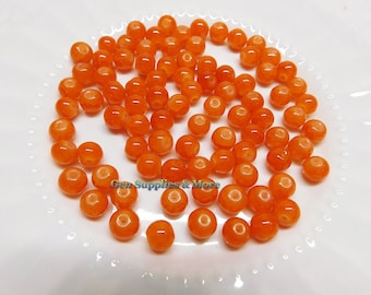 8mm Carnellian style glass beads, Carnellian Beads, 8mm glass beads, glass  beads  - 20pcs