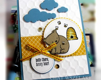 Hello Card- Stampin' Up Hello There Honey Bear
