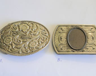 Vintage Belt Buckles Ornate Country Western Floral Unique Bohemian Boho Equestrian