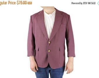 ON SALE Mens Vintage Blazer 48S Mauve Purple Wool Blend Sports Coat Jacket Stafford Xl Free Us Shipping
