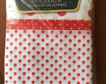 Springmaid Red & White Polka Dot standard Pillowcases