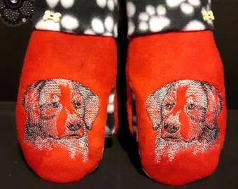 Bernese Mountain Dog Embroidered Mittens