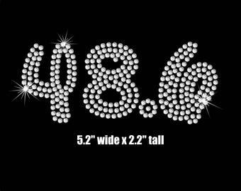 Disney font 48.6 iron on rhinestone transfer