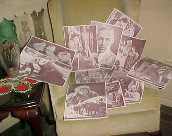 Lot Vintage Advertising Silent Movie Stars Poster/Prints WBGU-Tv Channel 57 Valentino/Chaplin All The Greats