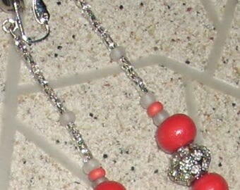 Coral Dangle Earrings