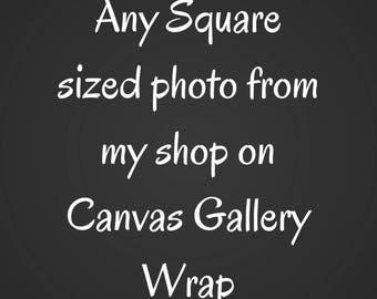 Any square photo Canvas Gallery Wrap, Wall Fine Art, Large bedroom decor, Canvas Print, canvas, home decor, photograph, landscape nature zen