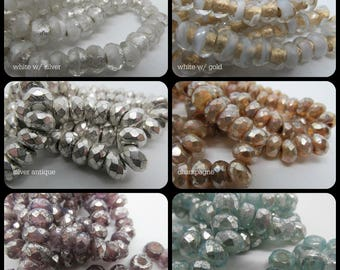 Roller Beads, Large Hole Beads, Choice of Roller Beads, Czech Glass Roller Beads, 6 x 9mm rollers, czech glass, czech beads
