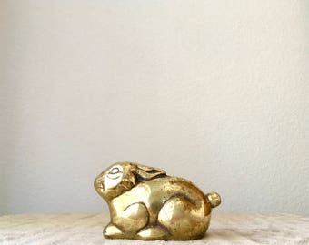 Vintage Brass Bunny Rabbit Figurine/Paperweight