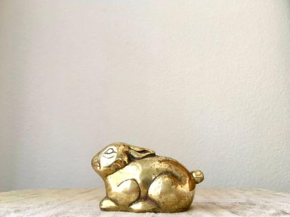 Vintage Brass Bunny Rabbit Figurine/Paperweight