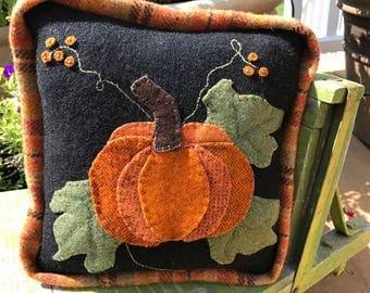 Wool Pumpkin Pillow