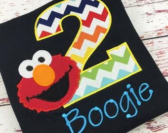 Personalized Elmo Birthday Shirt / Elmo Birthday Party / Birthday Party / First Birthday Shirt / Elmo Shirt / 2nd birthday party