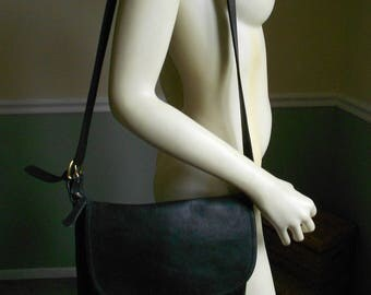 Coach Bag /  Black Leather Coach Shoulder Bag
