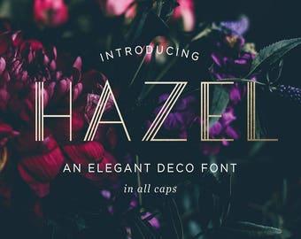 Hazel, an Art Deco Font