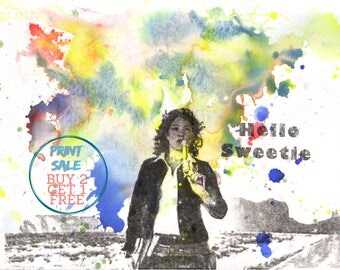 Doctor Who Poster Print Art  River Song Hello Sweetie Watercolor Painting 8 X 10 in. Do Doctor Who Gift Wall Decor