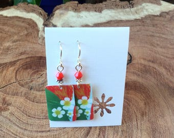 Strawberry Starbucks gift card earrings