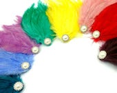Private Listing for Melony Burlesque Feather Pad with Pearls