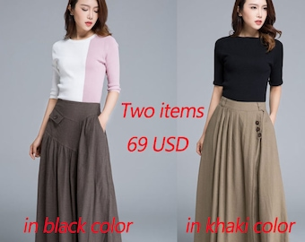 Sale, the two items 69 USD totally, skirts
