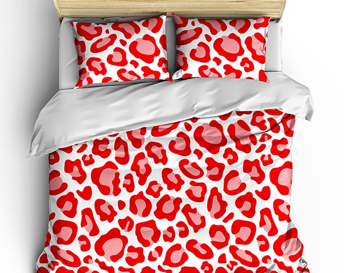 Classic Cheetah Print Duvet, Teen Bed Sets, Teen Bedroom Decor, Animal Print Bedding, Leopard Print Bedding, Safari Print Duvet, Grad Gift