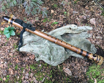 Native American style flute from Tree of Life Designs. Root End Bamboo, key of F#