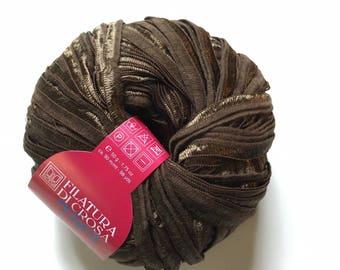 Filatura di Crosa Venezia Ribbon Yarn #31 Mink Brown 50gr 98yds