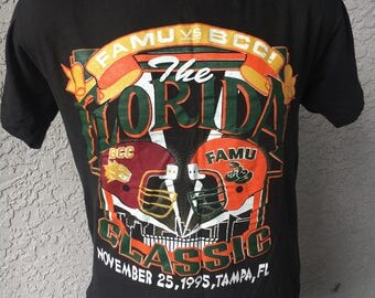 Florida A&M Rattlers Vs Bethune Cookman 1995 vintage soft tee shirt size L Florida Classic
