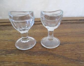 Eye Wash Glass Antique/Vintage Medical Equipment  group of 2