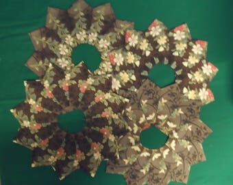 "For quilt blocks -Set of 16 Kaleidoscope Dresdens -Will fit onto a 12"" square or larger"