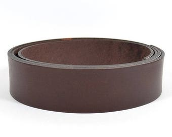 30mm Flat Leather - Chocolate Brown - L30F-10 - Choose Your Length