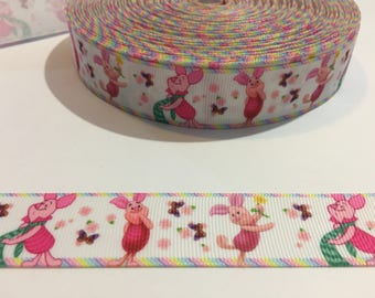 3 Yards of Ribbon - Pink Piglet from Winnie the Pooh 1 inch Wide