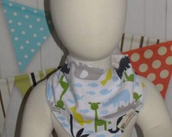 new baby toddler boy girl  one piece bandana bib elephants FREE shipping with 25 dollars purchase