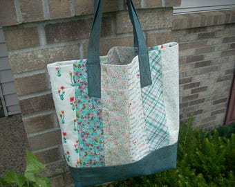 meriwether tote bag with cork accents - FREE SHIPPING