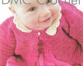 RESERVED for Catherine  Crocheted Bolero Sweater Infant 6mo Autumn Red