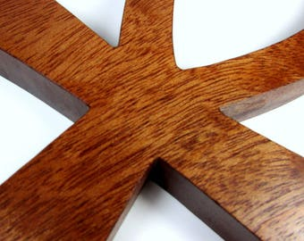 Ankh Cross / Egyptian Symbol / Life / LARGE / Mahogany Wood