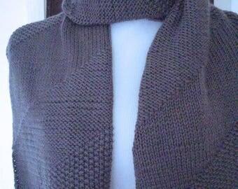 Dark gray wool blend scarf no. 297