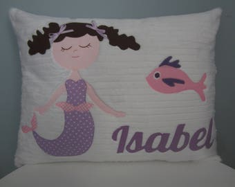 Sleepy Little Mermaid Personalized Pillow