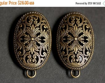 SUMMER SALE Set of Two Viking Brooches. Norse Turtle Brooches. Bronze Fretwork Apron Pins with Bails. Viking Brooch Set. Historical Reenactm