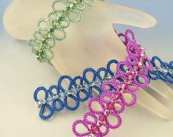 Stoccarda, needle tatted bracelet pattern
