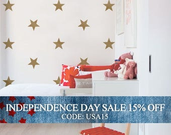 Independence Day Sale - Large Stars - Kids vinyl Wall Sticker