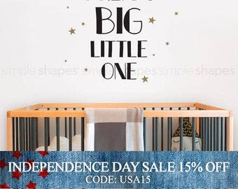 Independence Day Sale - Wall Decal Quote, Dream Big Little One, Kids Decal Nursery Vinyl Stickers Home Bedroom Decor