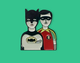 Super Heroes Enamel Pin