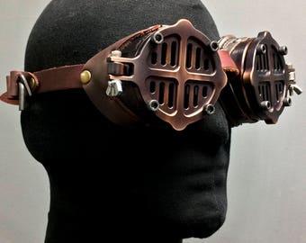 Machined Aluminum Flip Cover Goggles -War - Bronze