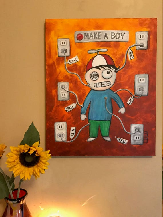 Make A Boy Painting