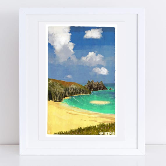Porthcurno - Signed Cornish Coasts Giclee Print