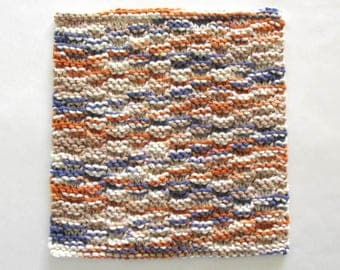 Knitted Dishcloth Knit Washcloth Cotton Hand Knit Dishcloth Rustic Southwestern Kitchen Decor