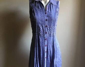SUMMER SALE Festival Summer Gypsy Rayon Dress •