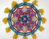 Flying High, 21-inch, 12-sided Ojo de Dios by Jay Mohler, in stock