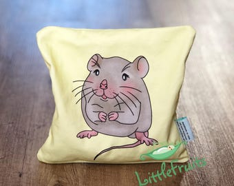 Babies Gift Idea  - Mouse Cherry Pit Heating Pad - Little Mouseling Kids Cherry Pit Pillow - Cherry Pit Pack - Christmas Gift Baby Girl